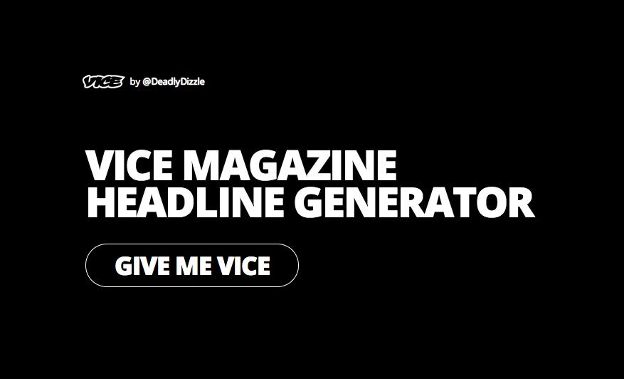 VICE Headline Generator